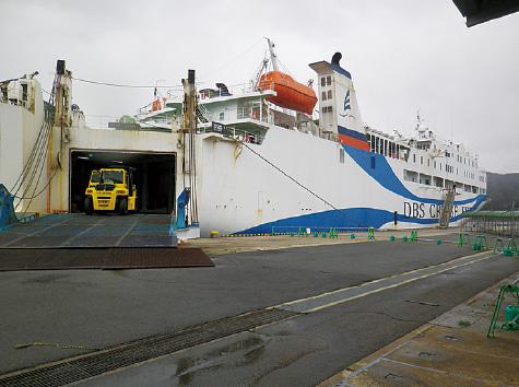 外港昭和北地区 国際定期貨客船