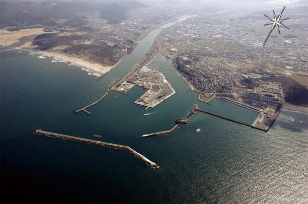 鳥取港航空写真