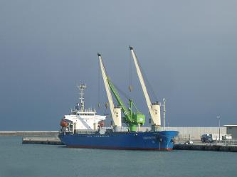 千代地区 ばら積み貨物船